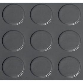 G-Floor 8.5' x 22' Slate Grey Garage and Utility Flooring - Coin