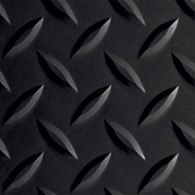 G-Floor 8.5' x 22' Midnight Black Garage and Utility Flooring - Diamond Tread
