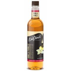 DaVinci Gourmet Classic Vanilla Beverage Syrup (750 ml)