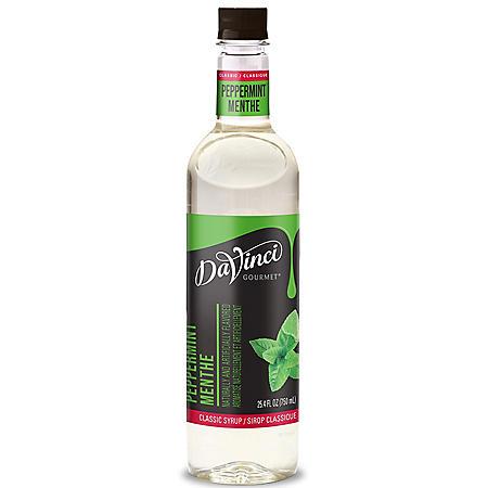 DaVinci Gourmet Classic Peppermint Beverage Syrup (750 ml)