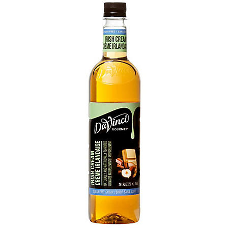 DaVinci Gourmet Sugar-Free Irish Cream Beverage Syrup (750 ml)