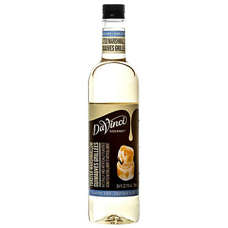 DaVinci Gourmet Sugar-Free Toasted Marshmallow Beverage Syrup (750 ml)