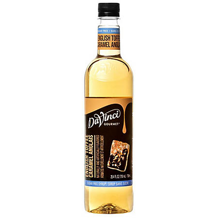 DaVinci Gourmet Sugar-Free English Toffee Beverage Syrup (750 ml)