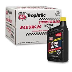 Phillips 66 TropArtic 5W-20 Synthetic Blend Motor Oil - 1 qt. bottles - 12 pk.
