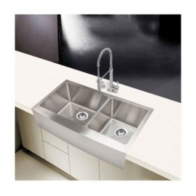 Stahl Handmade - Extra Large 60/40 Farmhouse Kitchen Sink