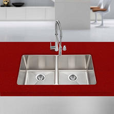 Stahl Handmade - Extra Large Equal Double Bowl Kitchen Sink