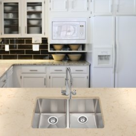 Stahl Handmade - Large Equal Double Bowl Kitchen Sink