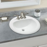 Stahl Ceramic Large Drop-in Oval Bowl - White
