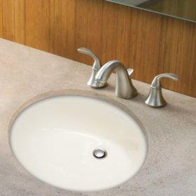 Stahl Ceramic Medium Undermount Oval Bowl - Bisque