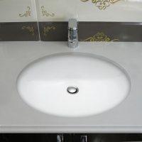 Stahl Ceramic Small Undermount Oval Bowl - White