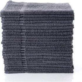 "12-Pack XL Gray Terry Towels (16"" x 27"")"