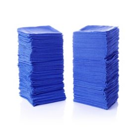 "100-Pack Blue Wiping Cloths (14"" x 12"")"