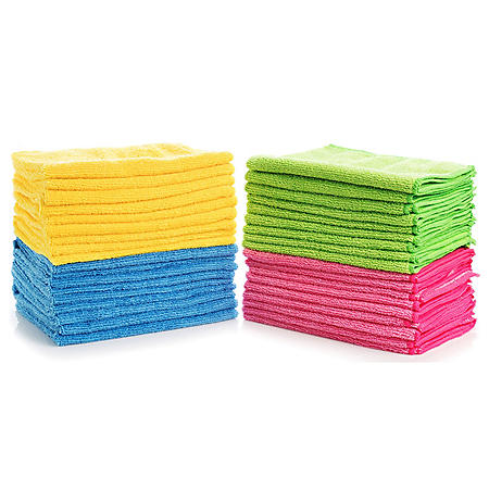 Hometex Microfiber Towels (48 pk., 4 colors)