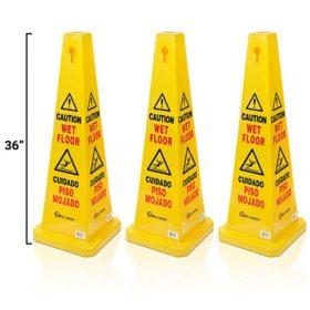 "Simpli-Magic Commercial 36"" Tall Wet Floor Sign (3 pk.)"