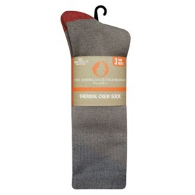 American Outdoorsman Men's Brushed Acrylic Thermal Crew Socks
