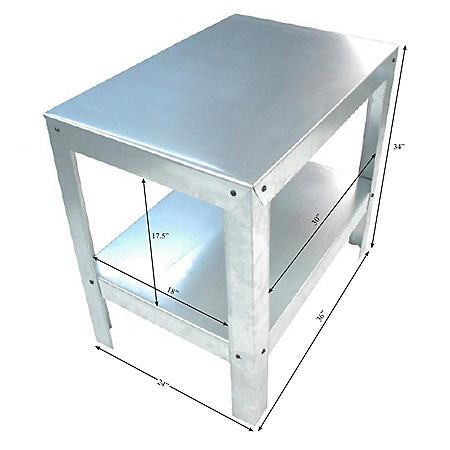 Heavy-Duty Galvanized Steel 2-Shelf Multi-Use Utility Bench