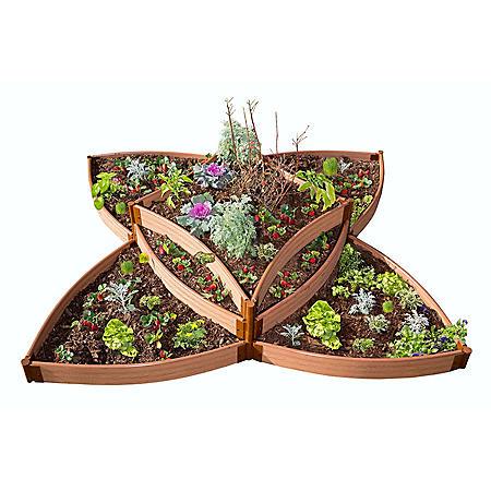 """Classic Sienna Raised Garden Bed Versailles Sunburst 8' x 8' x 16.5"""" – 1"""" Profile"""