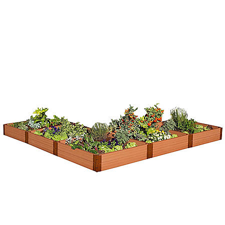 Classic Sienna Raised Garden Bed 'L' Shaped 12' x 12' x 11