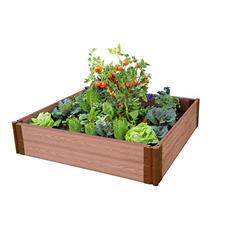"""Frame It All's Raised Garden - 1"""" 4' x 4', 2 Level"""