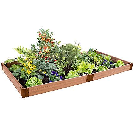 "Classic Sienna Raised Garden Bed 4' x 8' x 5.5"" - 1"" Profile"