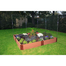 "Frame It All's Raised Garden 1"" 8' x 8', 2-Level c/w 2 Veggie Wall"