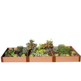 "Classic Sienna Raised Garden Bed 4' x 12' x 11"" - 1"" Profile"