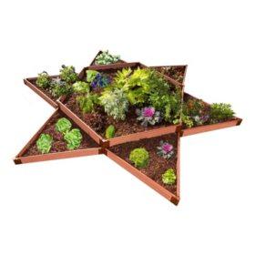 """Classic Sienna Raised Garden Bed Garden Star 12' x 12' x 11"""" - 1"""" Profile"""