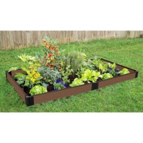 Tool-Free Uptown Brown Raised Garden Bed - 4' x 8' x 5.5""