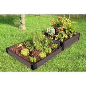 Weathered Wood Raised Garden Bed Terraced - 4' x 8' x 11""