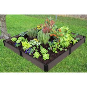 Tool-Free Weathered Wood Raised Garden Bed - 8' x 8 ' 11""