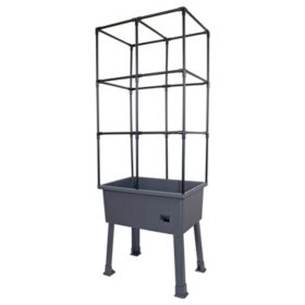 "Patio Ideas Self-Watering Elevated Planter with Trellis Frame and Greenhouse Cover - 15.75"" x 31.5"" x 63"""