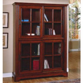 Deluxe Glass Door Bookcase Sam S Club