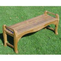 Teak Wood Backless Bench