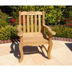 Teak Double Rose Arm Chair