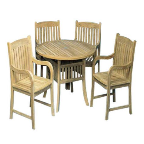 Teak Wood Dining Set - 5 pc.