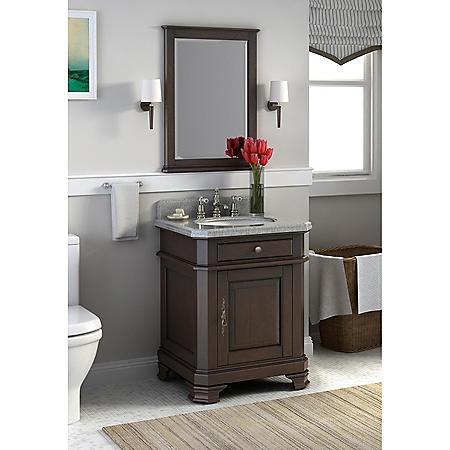 """Perkin 28"""" Single Bowl Vanity with Granite Top"""