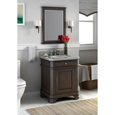 "Perkin 28"" Single Bowl Vanity with Granite Top"