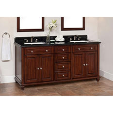 "Ely 72"" Double Sink Vanity with Granite Top"