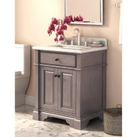 Deals on Lanza Marble Top 28-inch Vanity