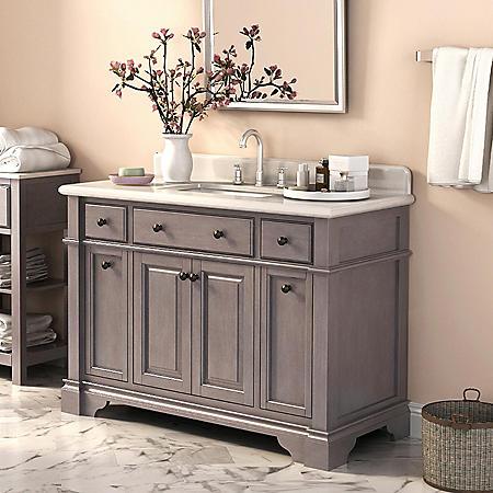 Marble Top 48-inch Vanity