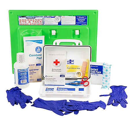 PhysiciansCare 25 Person Eyewash Station and First Aid Kit