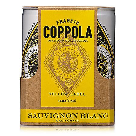 Francis Coppola Diamond Collection Sauvignon Blanc (250 ml can, 4 pk.)
