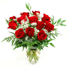 Rose Bouquet -   Red - 1 Dozen