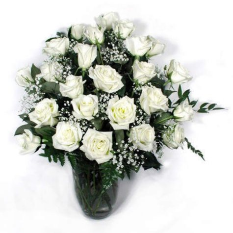 Rose Bouquet - White - 2 Dozen
