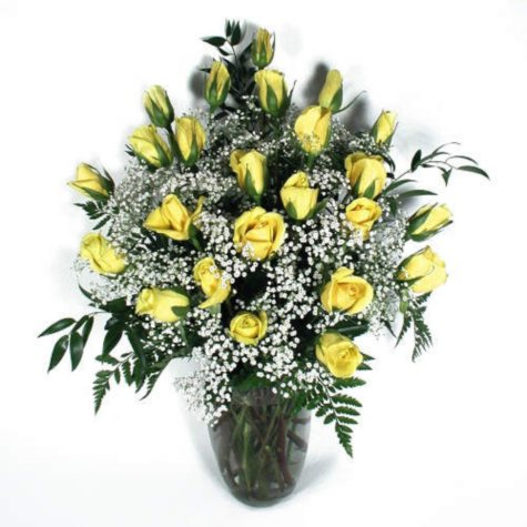 Rose Bouquet, Yellow (24 stems)