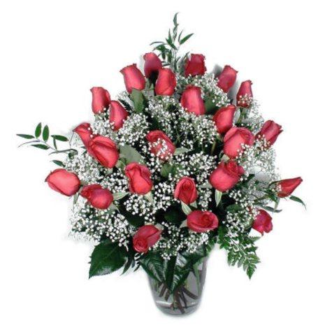 Rose Bouquet - Hot Pink - 2 Dozen
