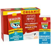 Horizon Organic 2% Reduced Fat Milk with DHA Omega-3 (3 cartons)