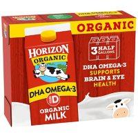 Horizon Organic Whole Milk with DHA (64 fl. oz., 3 pk.)