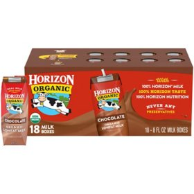 Horizon Organic Chocolate Reduced Fat Milk (8oz / 18pk)