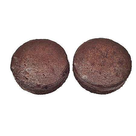 "5"" Uniced Chocolate Cake Layers, Bulk Wholesale Case (5 oz., 48 ct.)"